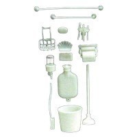 § Sale .60¢ Off - Dollhouse Bathroom Items (Kit) - Product Image
