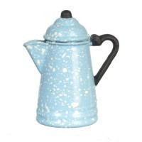 Dollhouse Blue Spatter or Silver Coffee Pot - Product Image