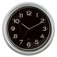 Silver Kitchen Wall Clock - Product Image
