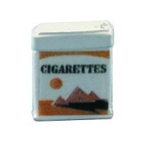 (*) Dollhouse Metal Cigarette Pack - Product Image
