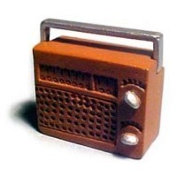 § Sale $1 Off - Dollhouse Retro Portable Radio - Product Image
