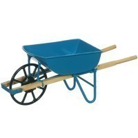 § Sale $1.50 Off - Dollhouse Modern Blue Wheelbarrow - Product Image