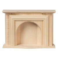 Dollhouse Unfinished Jamestown Fireplace - Product Image