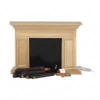 Dollhouse Unfinished Williamsburg Fireplace - Product Image