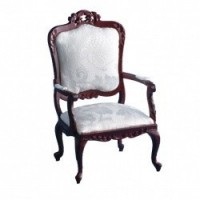 Dollhouse Carved Victorian Open Armchair - Product Image