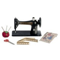 Dollhouse 5 pc Sewing Machine Set - Product Image