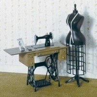 (Just Reduced) Dollhouse Sewing Room (Kit) - Product Image