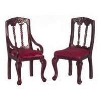 § Disc $1.20 Off - Dollhouse Burgundy Dining Chair - Product Image