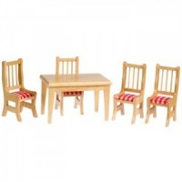 Dollhouse 5 pc Oak Kitchen Dining Set - Product Image