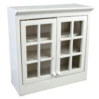 Dollhouse Upper Cabinet w/Plexiglas Doors - Product Image