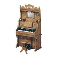 Dollhouse Pump Organ and Stool (Kit) - Product Image