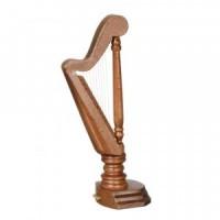 Walnut Dollhouse Harp - Product Image