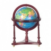 Dollhouse Mahogany Floor Model Globe - Product Image