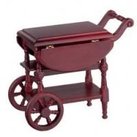 Dollhouse Drop Leaf Mahogany Tea Cart - Product Image
