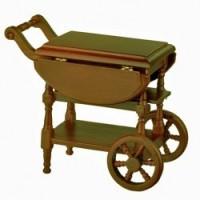Dollhouse Walnut Tea Cart - Product Image