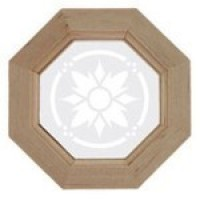 Octagon Window with Etched Insert - Product Image