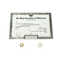 Dollhouse Wedding Certificate with Rings - Product Image