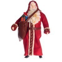 Dollhouse Porcelain Santa Doll - Product Image