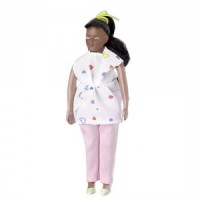 Vinyl DollHouse Doll - African American Mom-to-be - Product Image