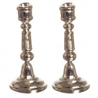 Set of 2 Silver Plated Candlesticks - Product Image