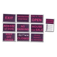 (*) Assorted Sign Set - Product Image
