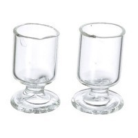 § Sale .60¢ Off - Dollhouse 2 pc Glass Goblets - Product Image