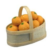 Dollhouse Oranges in Basket - Product Image