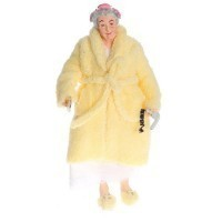 Dollhouse Granny in Yellow Robe - Product Image