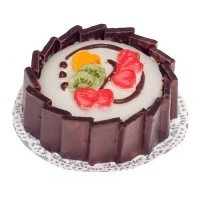 Chocolate Rimmed Fruit Tart - Product Image
