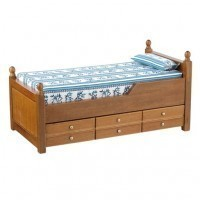 Dollhouse Trundle Bed Walnut - Product Image