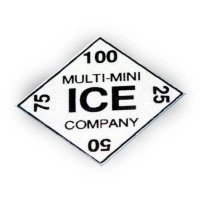 (*) Dollhouse Miniatures Ice Card Sign - Product Image
