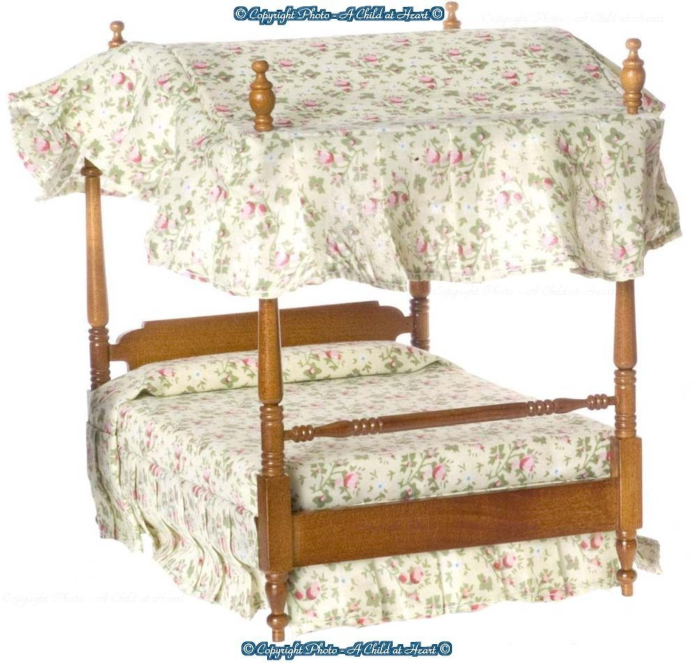 dollhouse double canopy bed