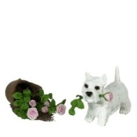 Dollhouse W. Highlander Puppy & Broken Pot - Product Image