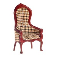 Dollhouse Plaid Victorian Gent's Chair - Product Image