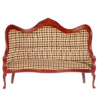 Dollhouse Plaid Victorian Sofa - Product Image