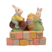 Dollhouse Easter Mr. & Mrs. Bunny - Product Image