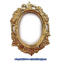 Dollhouse Ornate Filigree Oval Frame - Product Image