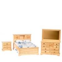 Dollhouse Double Oak Bedroom - Product Image