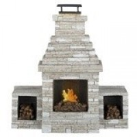 Dollhouse Grand Outdoor Fireplace - Product Image
