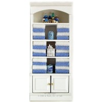 (*) Dollhouse Filled Bathroom Shelf - Product Image