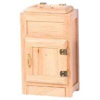 Dollhouse Top Loading Oak Ice Box - Product Image