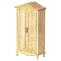Dollhouse Oak Victorian Closet - Product Image