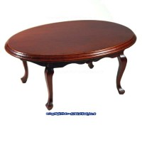 Dollhouse Oval Walnut Dining Table - Product Image