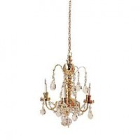 Dollhouse 3 Arm Austrian Crystal Chandelier - Product Image