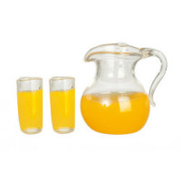 (*) Dollhouse 3 pc Orange Juice Set - Product Image