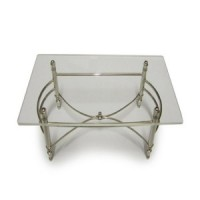 (**) Dollhouse Chrome Dining Table - Product Image