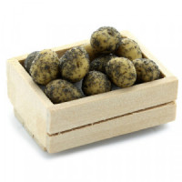 (*) Dollhouse Crate of loose Potatoes (Filled) - Product Image