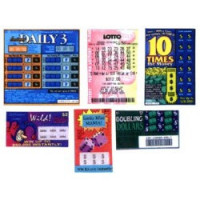 (*) Dollhouse Miniature Lotto Tickes - Product Image