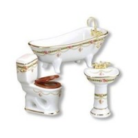 (**) Reutter Bathroom Set - Victorian Rose - Product Image