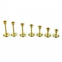 (***) Set of 7 Brass Candle Sticks - Product Image
